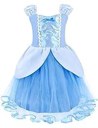 AmzBarley Principessa Cinderella Vestire Costume per Bambini Ragazze  Halloween Cosplay Festa 14ae61ecd54