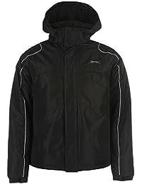 Slazenger Veste à capuche pour homme Noir vestes manteaux Parka Vêtements de sport