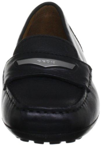 Geox - D Euro J, Mocassini Donna Nero (BLACK C9999)