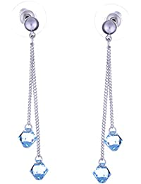 """""""Galaxy Jewellery"""" gota pendientes pendiente con cristales Swarovski Aquamarine - regalo ideal para las mujeres y las niñas - viene en caja de regalo"""