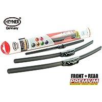 HEYNER Super Premium planas escobillas del limpiaparabrisas delantero y trasero plano HEYNER 26