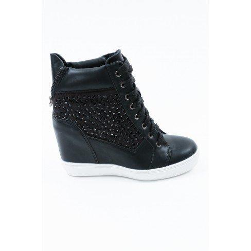 851f74a1adbef Princesse boutique Baskets Femme Noir Noir Jeu Amazon Vente Amazon ...