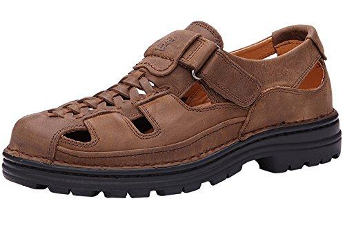 Homens Dayiss® Jovens Sandálias Sandálias De Couro Esportivos E Ao Ar Livre Sapatos Marrons