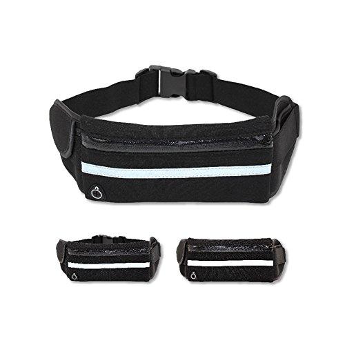 Reefa Laufband Gürtel Taille Pack Multifunktionale wasserdichte unsichtbare Taschen verstellbare Lauftasche für alle Arten von Handys Blau
