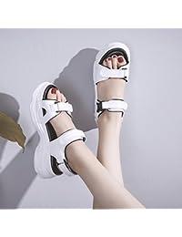 QQWWEERRTT Sandalias de Plataforma de Moda Mujeres Verano Nueva Plataforma Zapatos Piso Inferior Estudiante Simple...