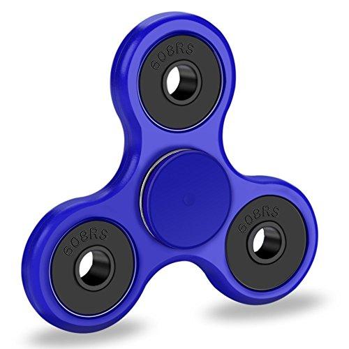 Preisvergleich Produktbild GOLDTIME Plastik Fidget Toys Hand Spinner Finger Spielzeug für Kinder und Erwachsene (Blau)