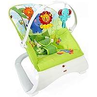 Fisher-Price Hamaca confort y diversión verde, para bebé recién nacido (Mattel CJJ79)