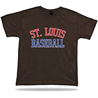 St. Louis BASEBALL T-shirt T rosso bianco blu MO USA campo dell