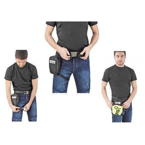 Oj - Mochila de pierna Mini Track cremallera y carcasa impermeable, porta-MP3, cód, M100