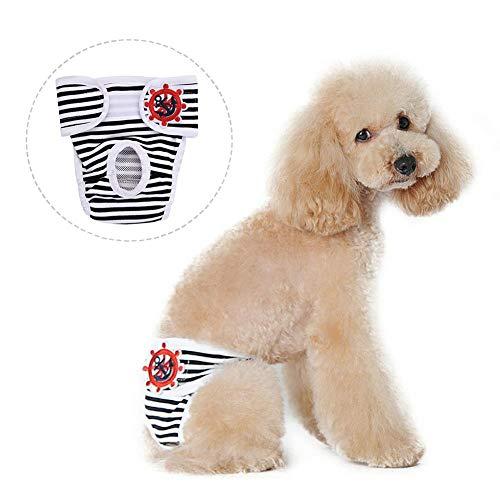 Mascotas de perro de rayas, ropa de higiene fisiológica, pantalones de pañales, ropa de perros, pantalones de salud para perros, pañales para perros pueden reutilizarse, pañales para perros