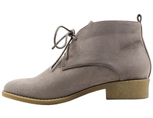 MaxMuxun Chaussures Femme Bottines Basses EU 36-41 Taupe