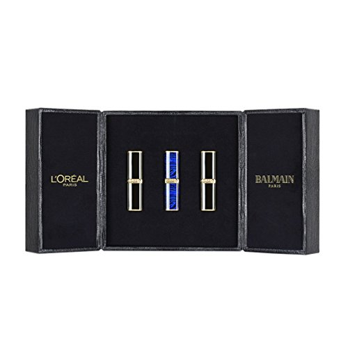 L'Oreal Paris X Balmain Makeup Lipsticks, Multicolor, 11.7g (Combo of 3, 356 Confidence, 468 Liberation and 650 Power)