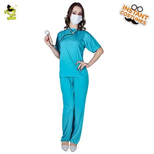 GAOGUAIG AA Sexy Damen Krankenschwester Kostüm Hottie Kleider for Frauen Karneval Rollenspiel Wunderschöne weibliche E. R. Medizinische Kostüme SD (Color : Onecolor, Size : - Unheimliche Kostüm Frauen