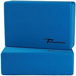 Timberbrother Juego de 2 Espuma EVA Bloques de Yoga(Azul, 23 x 15 x 7.6cm (2pc))