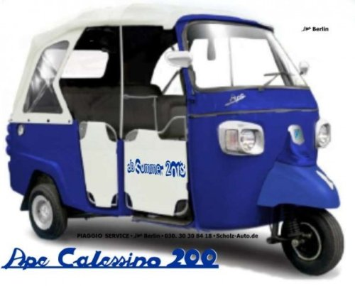 Piaggio Ape Calessino 200 Benzin Rikscha