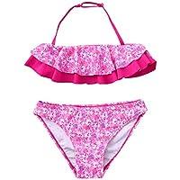 QinMM 7-14 años niñas Conjuntos Bikinis Floral Trajes de baño de Verano Biquinis bañador natación Ropa de Playa