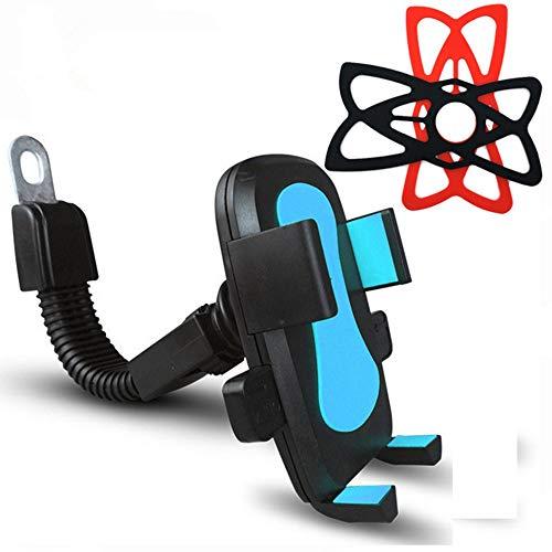 HOUYAZHAN Soporte para Bicicleta, Soporte para Bicicleta, Abrazadera de Horquilla Universal para iOS Android Smartphone, GPS para navegación, 360 Grados de rotación, (Color : Blue)