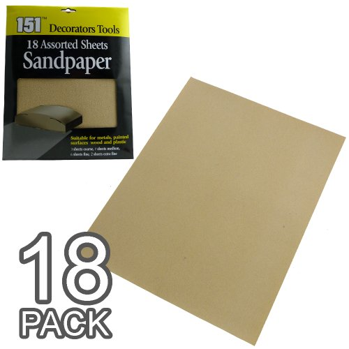 Lot de 18/36 feuilles de papier abrasif, Packs of 18