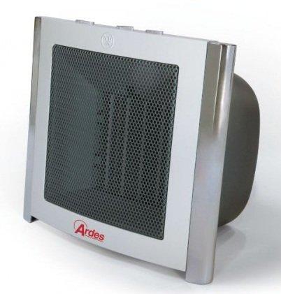 Termoventilatore Ardes 485 da 1500W con sistema di riscaldamento ceramico PTC Stufetta elettrica con 2 potenze selezionabili. Design italiano. volume riscaldabile circa 60 metri cubi