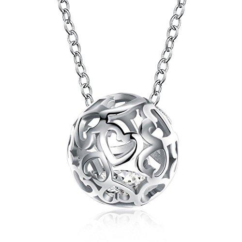 Aoligei Europa und die Vereinigten Staaten Mode Welt Cup Fußball Anhänger Sterling Silber Halskette Liebe Hohlen S925 Sterling Silber NE Cklace -