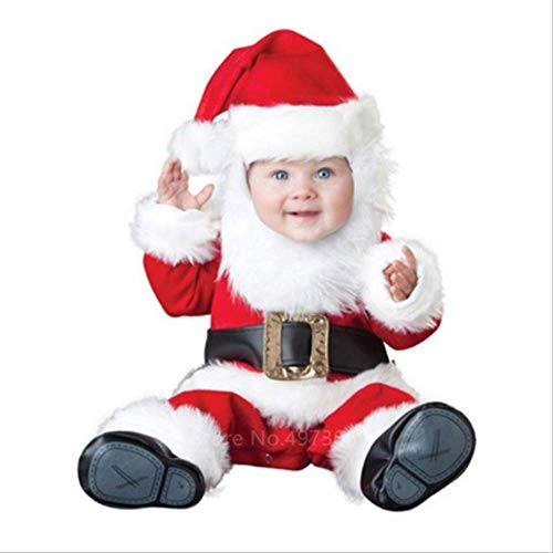 CHHGS Santa ClausToddler Christmas Cosplay Santa Claus Costumes New Year Elf Deer Grinch Party Boys Girls Performance Vêtements Avec Chapeau 90-160cm Hauteur 130M Style2