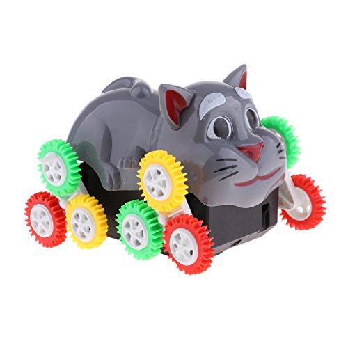 MagiDeal Elektrische Tiere Katze / Hunde Spielzeug mit 12 Rädern, Batteriebetriebene, Kinder Spielzeug - Katze (Katze Batteriebetriebene Spielzeug)