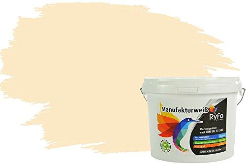 RyFo Colors Bunte Wandfarbe Manufakturweiß Vanilla 3l - weitere Orange Farbtöne und Größen erhältlich, Deckkraft Klasse 1, Nassabrieb Klasse 1
