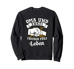Oma & Enkel Freunde Für's Leben Faust Partnerlook Geschenk Sweatshirt