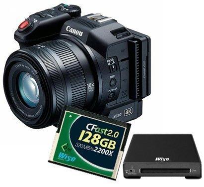 Kit Camcorder Canon XC10 + 1 Speicherkarte CFast WISE 128 GB + Speicherkartenleser (Compactflash-kit)