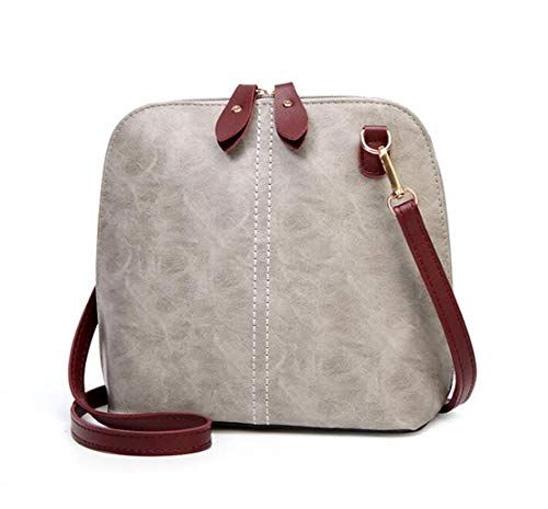 Öl Haut Shell Tasche Damen Umhängetasche Mode Umhängetasche (Farbe : Gray, größe : One size) Rei Soft Shell