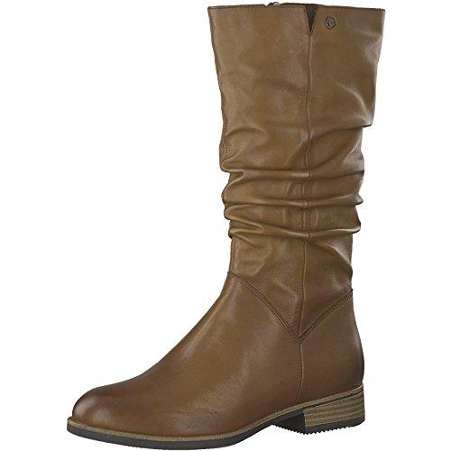 Tamaris Damen Stiefel 25345-21,Frauen Boots,Reißverschluss,Blockabsatz 3cm,Muscat,EU 39