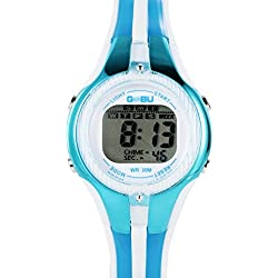 GOBU 1613 Fashion Sport Watch Multifunction Multi-colour Led LAnalog Digital Waterproof Alarm Wristwatch Water Resistant Features Alarm/ Chronograph Stopwatch/ Timer