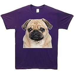 Camiseta, diseño de carlino Morado morado