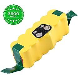 Topbatt 14.4V 3.5Ah pour iRobot Roomba batterie de remplacement 3500mAh Ni-MH R3 500 600 700 800 900 série Batterie pour aspirateur 510 530 532 535 540 550 560 580 620 630 650 660 770 780 790 880 980