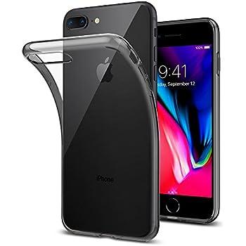 Coque iPhone 7 Plus, Spigen® Coque iPhone 8 Plus / 7 Plus [Liquid Crystal] Ultra-Thin [Space Crystal] Premium Semi-transparent / Exact Fit / NO Bulkiness Soft Housse Etui Coque Pour iPhone 7 Plus / 8 Plus - (043CS20855)