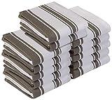 Utopia Towels Geschirrtuch - 100% Ringgesponnene Baumwolle - Maschinenwaschbar - Küche Geschirrtücher Handtuch Geschirrtücher (12 Pack, 38 x 64 cm) (Grau)