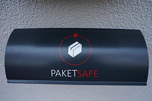 PAKETSAFE – platzsparender Paketsack mit hochwertiger Edestahloptik (anthrazit) - 2