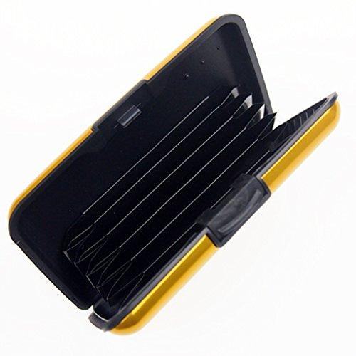 QHGstore Business-Kreditkarte-Halter-Mappen-Taschen-Kasten Anti Rfid Gelb