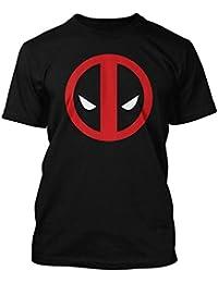Marvel Comics Deadpool–Camiseta para hombre–Classic Dead Pool Logo Negro