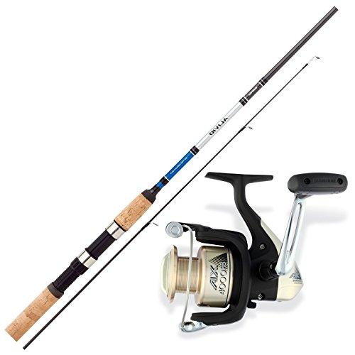 SHIMANO Aal Angelset Combo Angelrute & Angelrolle Set - Angeln NO.1