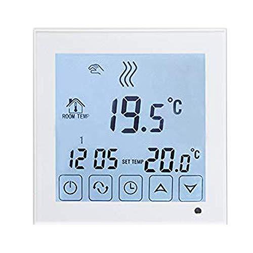 Beok Termostato per Caldaia a Gas,Termostato Caldaia Digitale,Programmabile Display LCD Touchscreen con Bianco Retroilluminazione ,Termostato Batteria