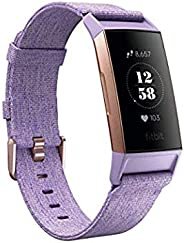 Fitbit Charge 3, Advanced Fitness Tracker, Special Edition, with Heart Rate, Swim Tracking & 7 Day Battery, Lavender Woven/R