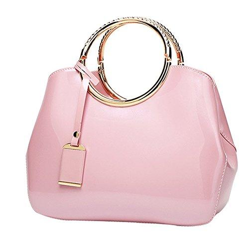 GZHOUSE, Borsa a spalla donna rosa Pink-1 Pink