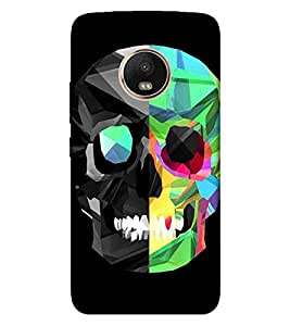 For Motorola Moto G5 Plus skull, vector skull, nice skull, black background Designer Printed High Quality Smooth Matte Protective Mobile Pouch Back Case Cover by BUZZWORLD