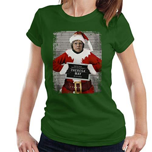 Coto7 Christmas Mugshot Theresa May Women's T-Shirt