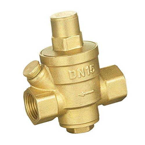 Baoblaze DN20 DN15 Einstellberer Messing Druckregler Wasserdruckminderer Druckventil Regelventil - DN15 -