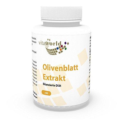 Vita World Olivenblatt-Extrakt 335mg 20% Oleuropein 90 Vegi Kapseln Apotheken Herstellung