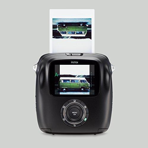 Fujifilm Instax Square SQ10 Fotocamera Ibrida Istantanea e Digitale con Scheda di Memoria, per Foto Formato Quadrato 62x62 mm, Nero