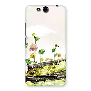 Stylish Fence Landscape Multicolor Back Case Cover for Micromax Canvas Juice 3 Q392