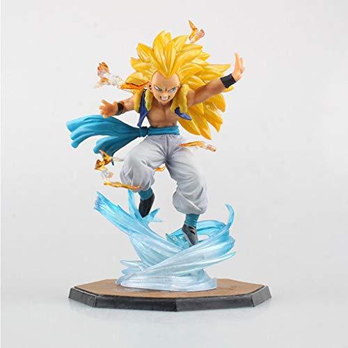 XIAOPING Dragon Ball Escultura de Juguete Súper Saiyan PVC muñeca muñeca Personaje Estatua decoración artesanía Alta sobre 16 CM